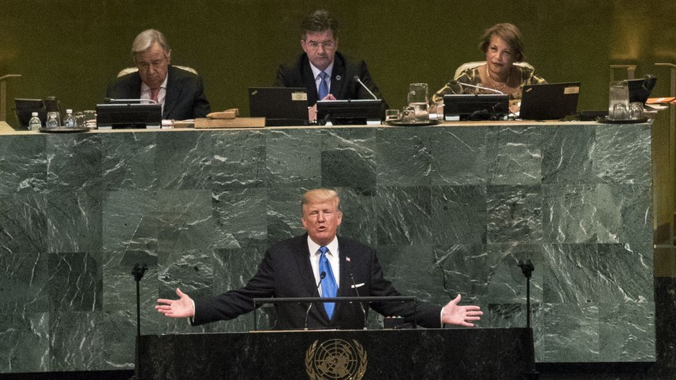 Trump's first UN speech met with criticism from some leaders