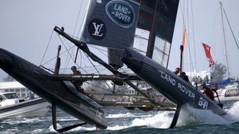 Land Rover BAR boat compete in America's Cup World Series in Bermuda