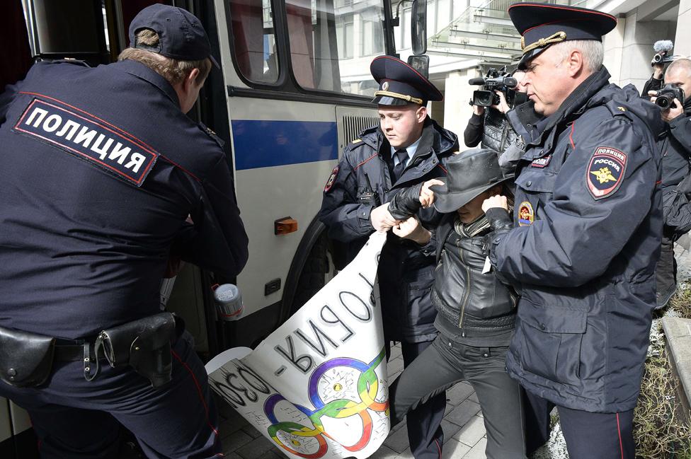 LGBT活動者被逮捕