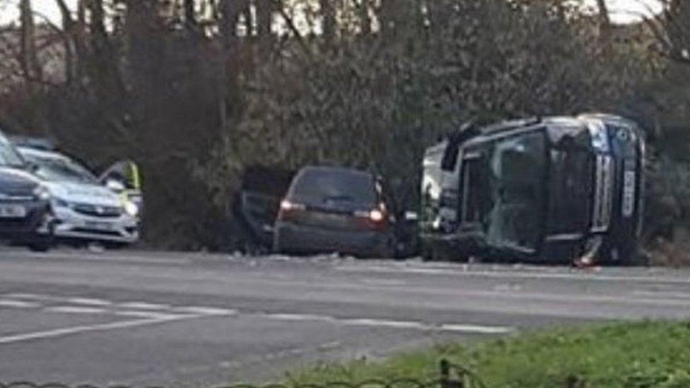 Prince Philip unhurt after car crash - palace