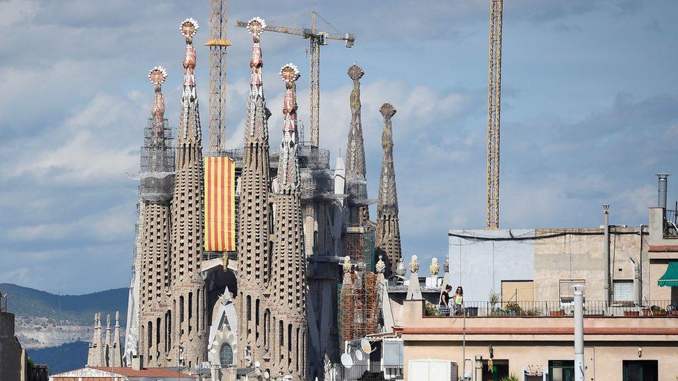El templo de la Sagrada Familia en Barcelona.