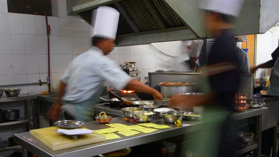 Una cocina profesional