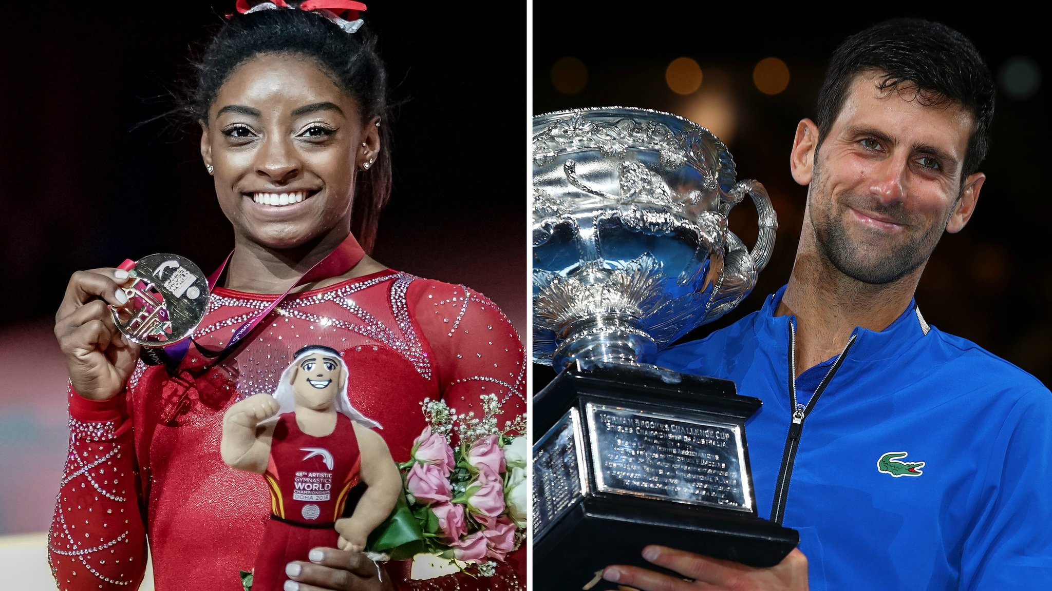 Laureus World Sports Awards: Simone Biles and Novak Djokovic win top honours