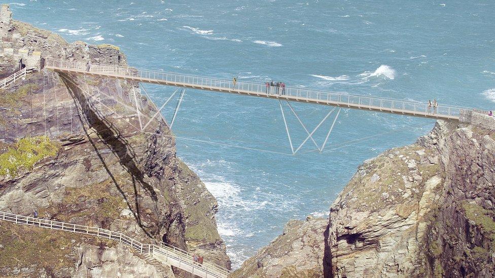 BBC News - Tintagel Castle bridge designs revealed by ...