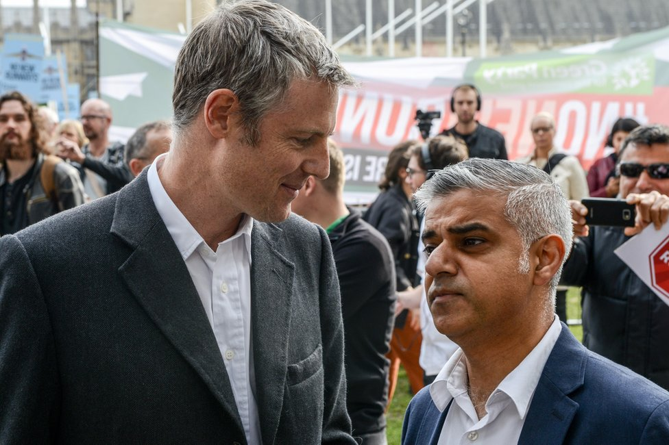 Zac Goldsmith (left) and Sadiq Khan