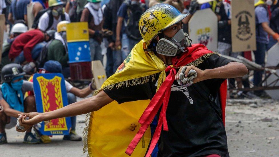 Manifestante venezolano