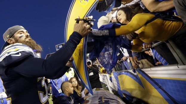 Bbc Sport San Diego Chargers Eric Weddle Fined For