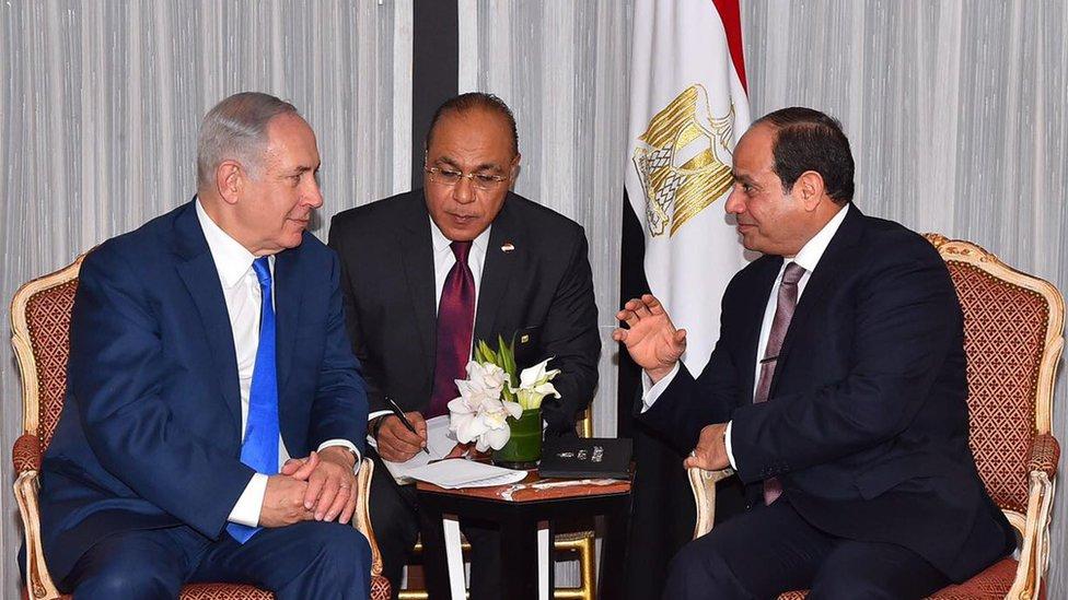 السيسي ونتنياهو يبحثان السلام بين الإسرائيليين والفلسطينيين