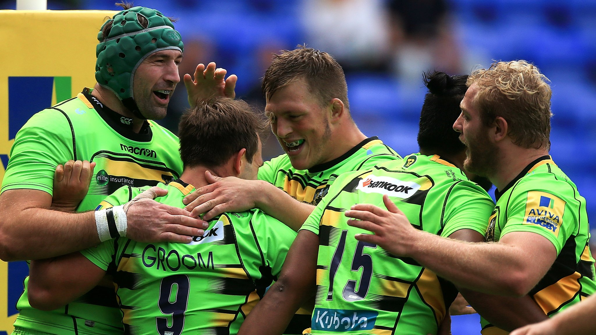 Northampton score six tries in win at Exiles