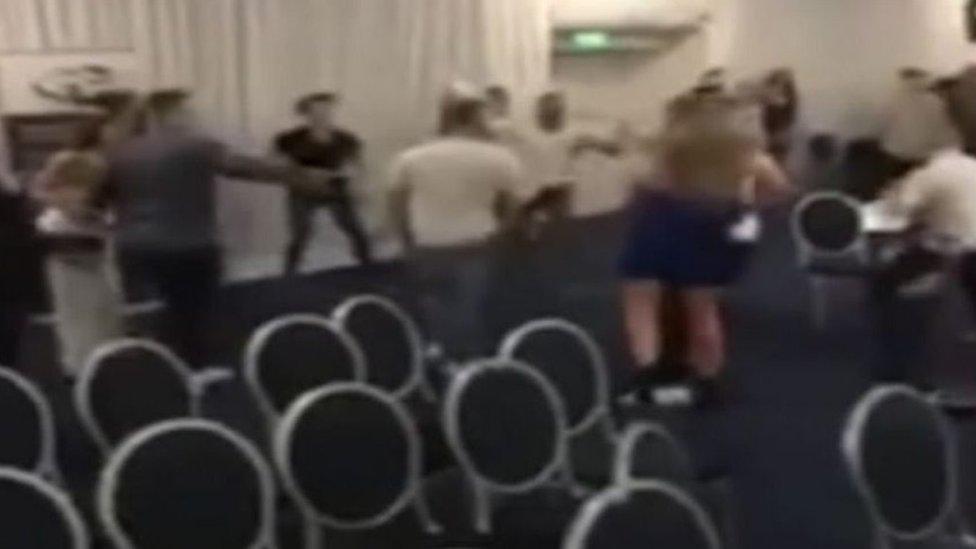 White collar boxing event descends into brawl
