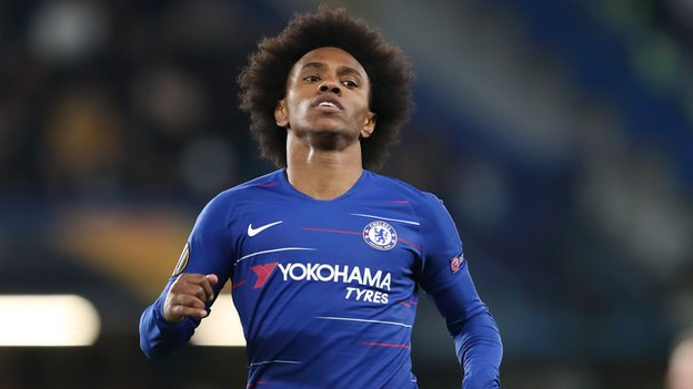 Willian Borges: Chelsea star's car park kickabout with young fan
