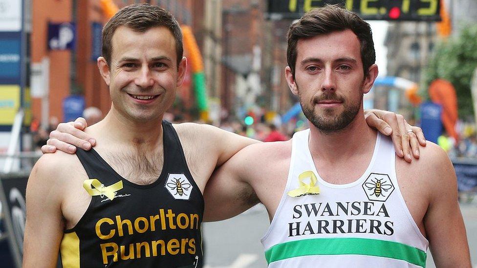 Marathon runner's hero to join him on London starting line