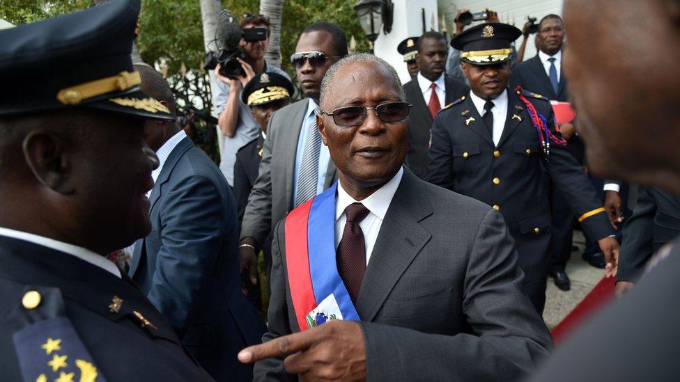 Haiti's interim president Jocelerme Privert