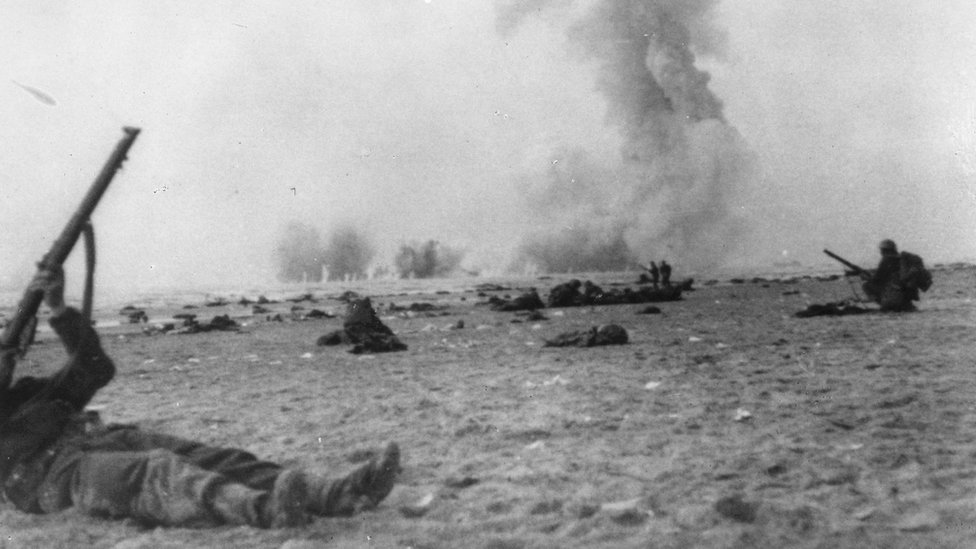 Tropas británicas en combate
