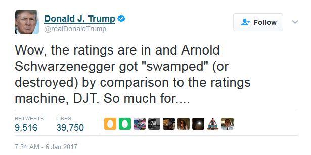Trump incluso se refirió a la baja audiencia del programa en comparación con los datos de cuando él lo presentaba.