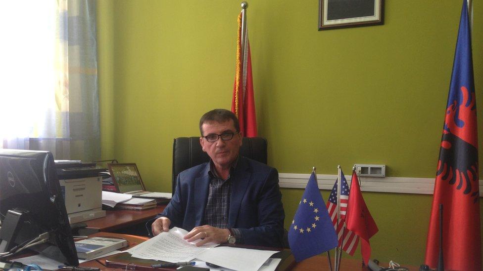El coronel Gjovalin Loka