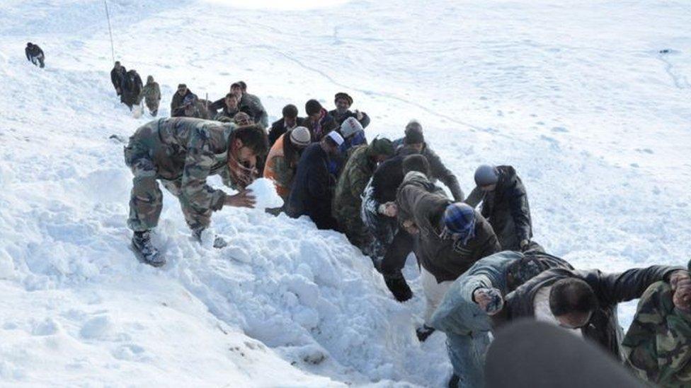 برفباریهای شدید در فاریاب 'دهها کشته و زخمی' برجای گذاشت