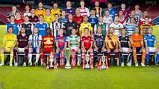 The SPFL team captains line up