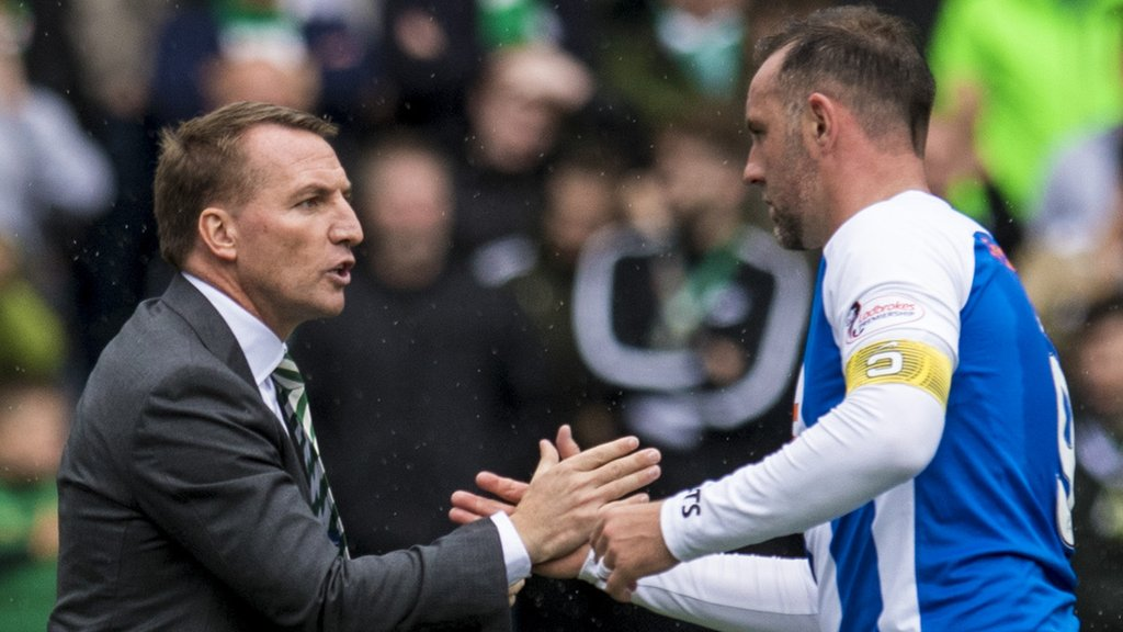 Rodgers tells Kilmarnock's Boyd to focus on playing rather than criticising Celtic