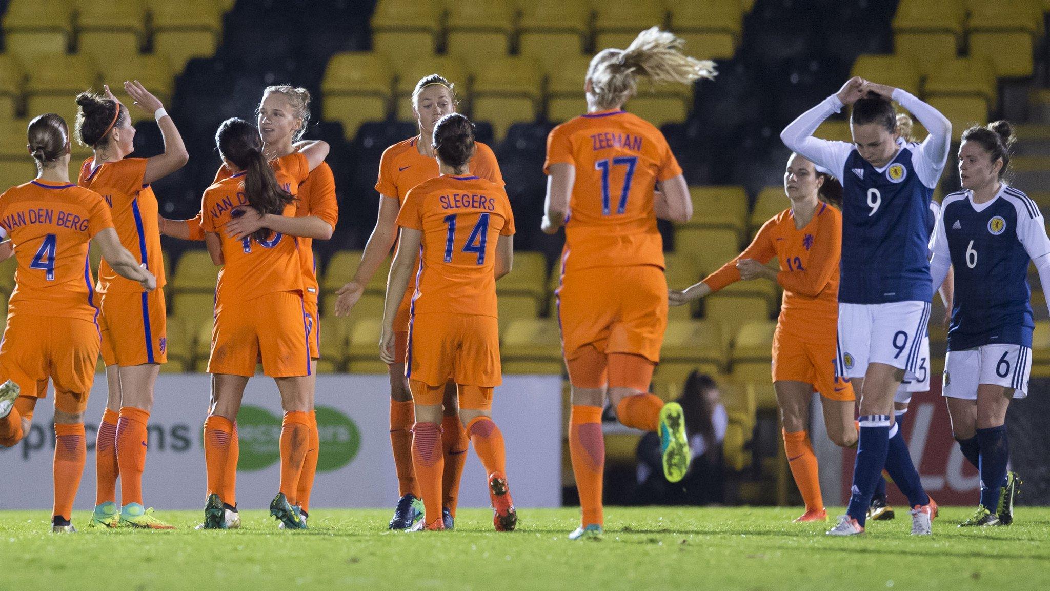 Dutch hit seven past Scotland women