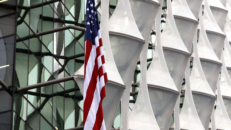 El diseño arquitectónico de la nueva embajada tiene la función de proteger al edificio y su interior de ataques extremistas.