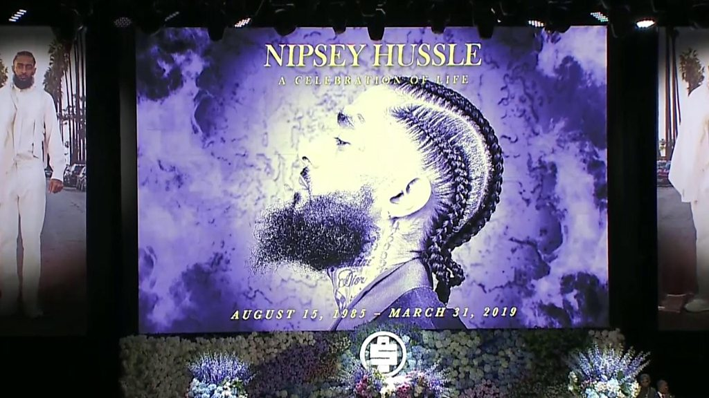 Nipsey Hussle: Thousands remember rapper in Los Angeles