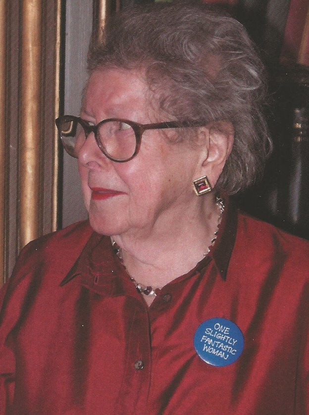 Barbara Hosking durante la celebración de sus 90 años.