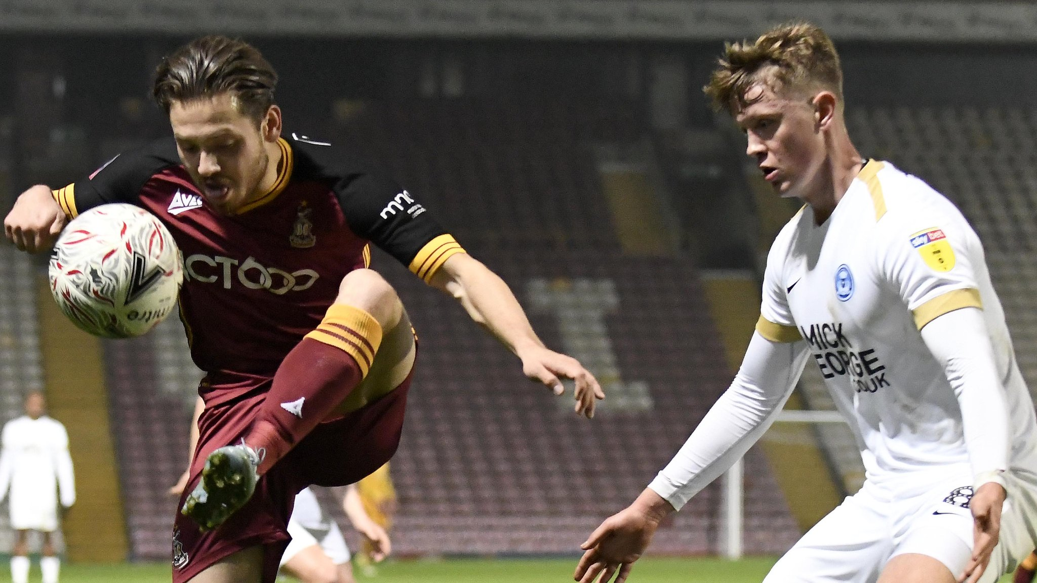 Bradford 4-4 Peterborough (2-3 on penalties): Visitors through after incredible cup tie