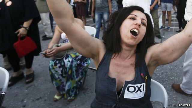 VIDEO: Greek bailout referendum polls close...