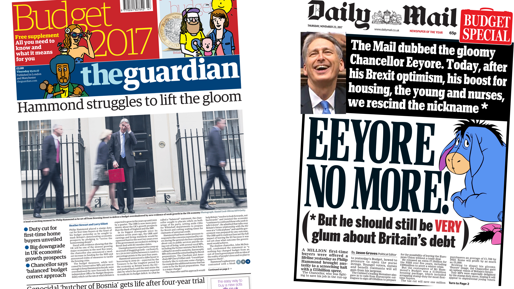 The Papers: Budget giveaways and gloom