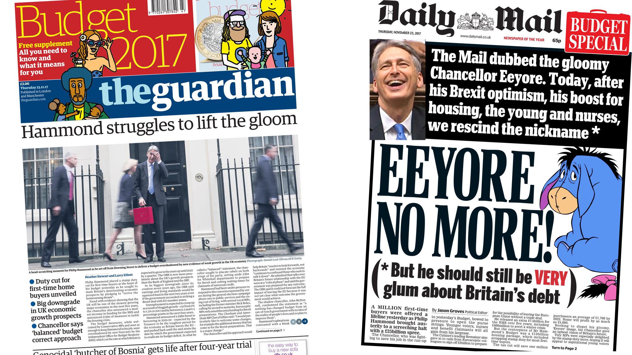 Newspaper headlines: Budget giveaways and gloom