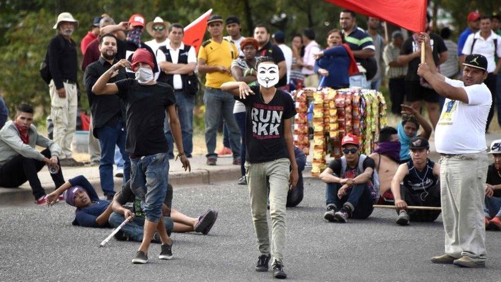Protestas en Tegucigalpa.