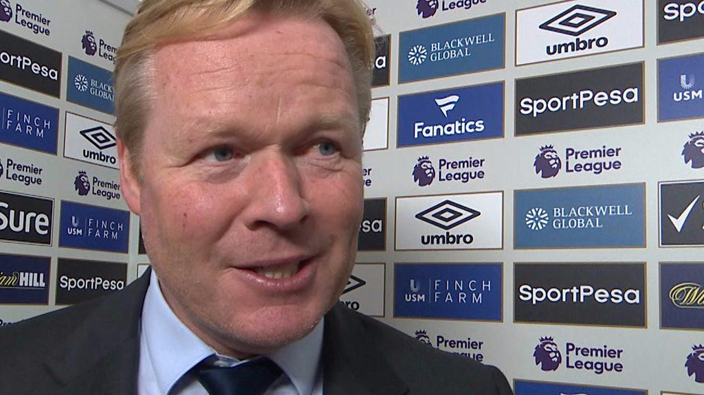 Everton 2-1 Bournemouth: Ronald Koeman hails 'really important' win