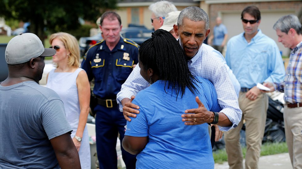 Louisiana floods: Obama 'heartbroken' after tour