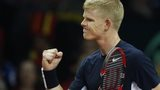 Kyle Edmund clenches his fist