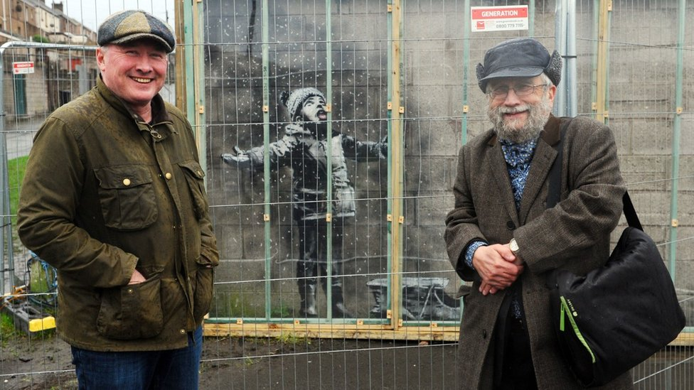 Banksy artwork in Port Talbot sold for 'six-figure sum'