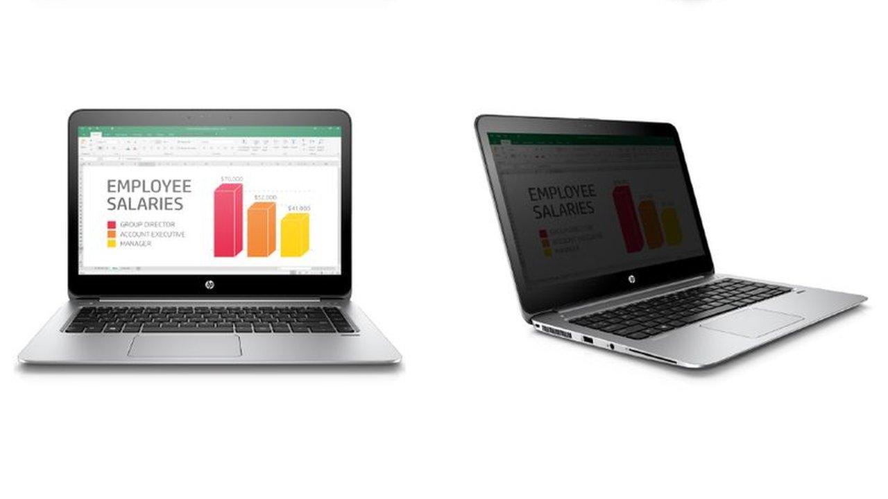 HP laptop blocks over-shoulder snooping