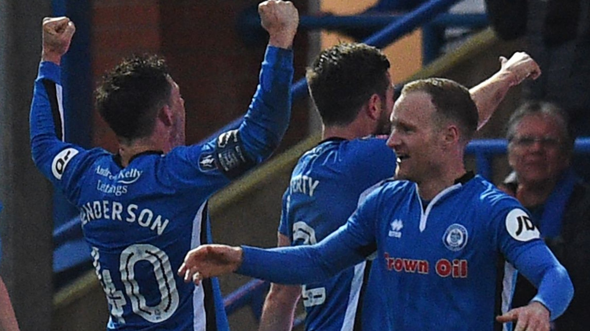 Injury-time equaliser earns Rochdale a Wembley replay with Spurs