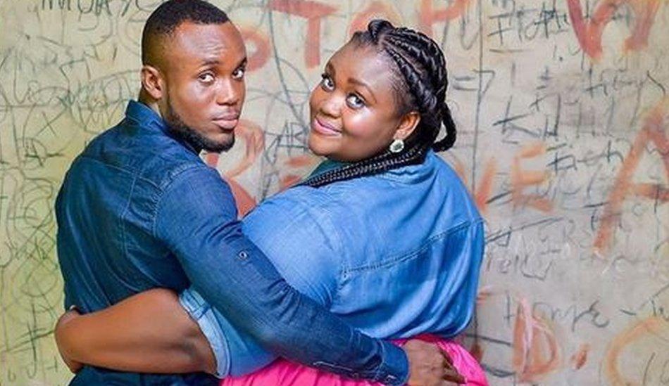 Mzznaki Tetteh and fiance Kojo