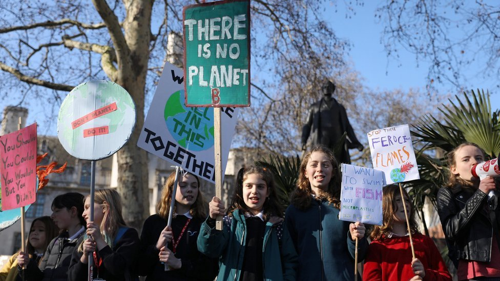 Climate strike: Schoolchildren protest over climate change