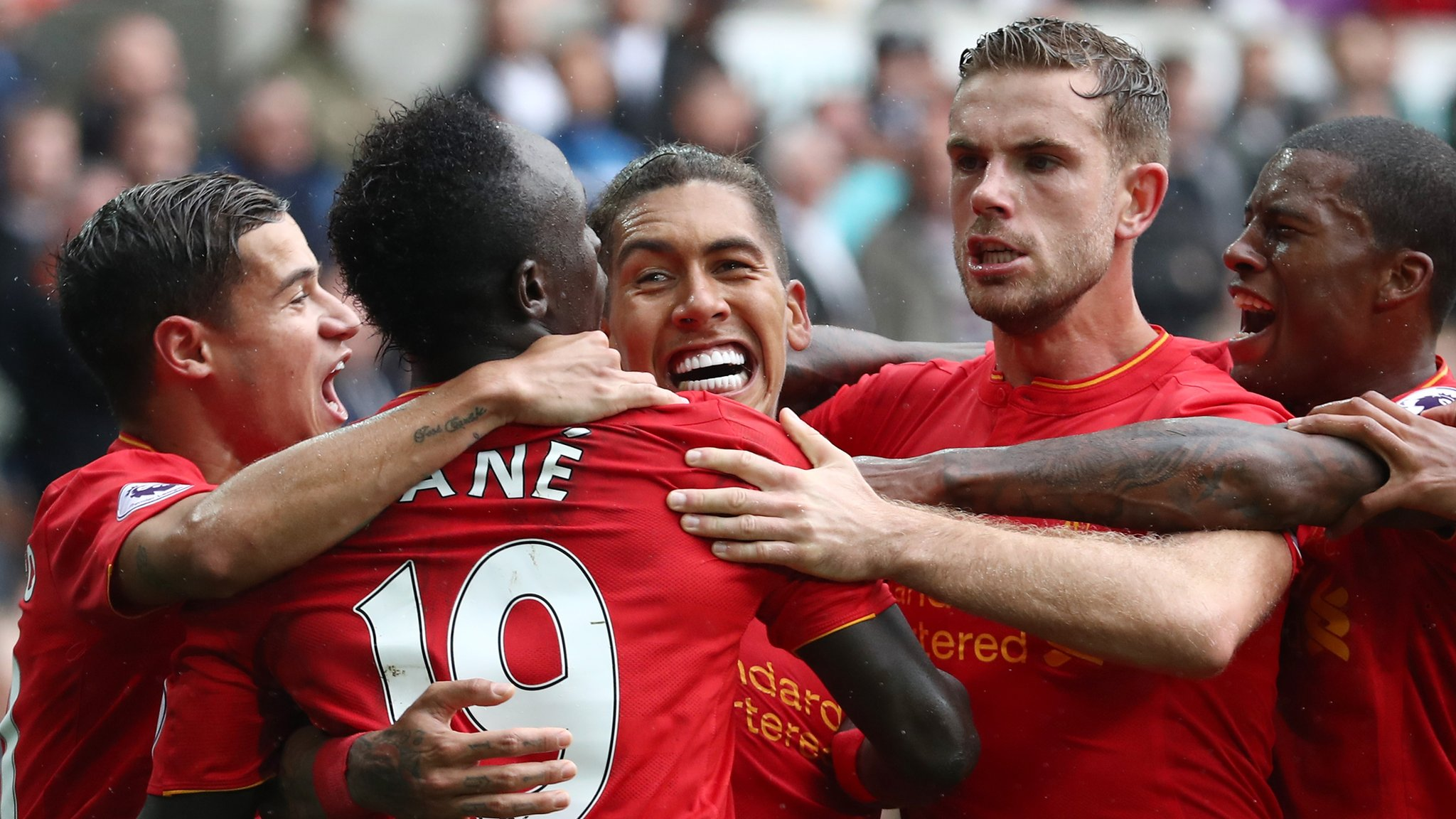 Liverpool come from behind at Swansea