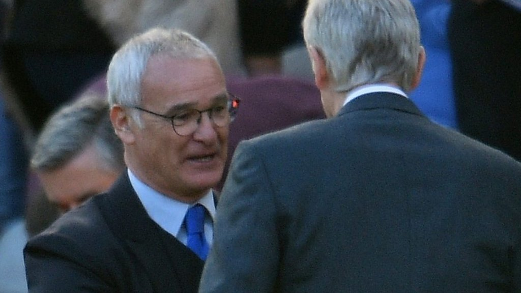 Ranieri disagrees with Wenger on title points total