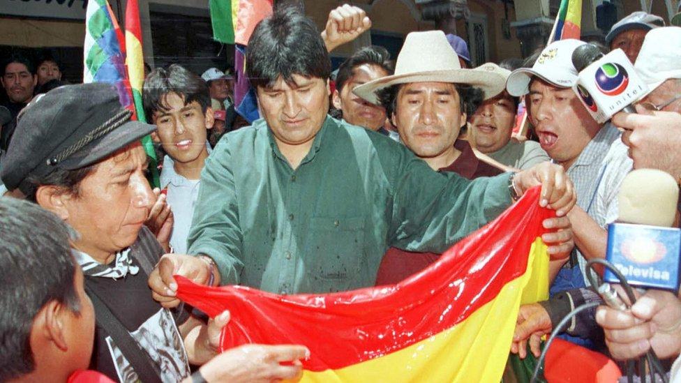 Evo Morales en 2003