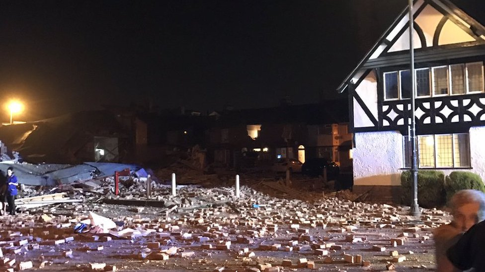 Dozens injured in Merseyside explosion