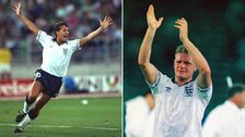 Gary Lineker and Paul Gascoigne