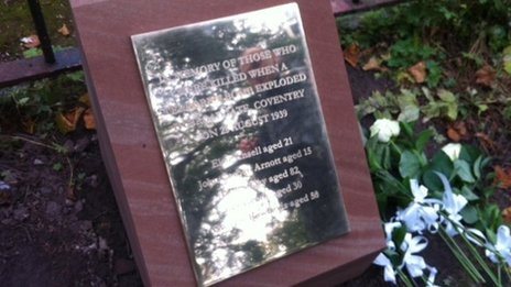 The new memorial, at Coventry cathedral