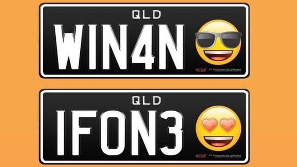Emoji number plates launched in Queensland