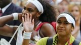 Heather Watson and Serena Williams