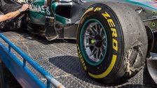 Nico Rosbergs tyre