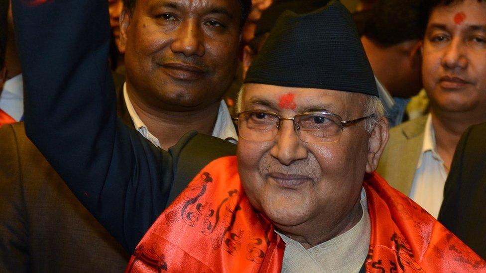 Nepalese premier Khadga Prasad Oli